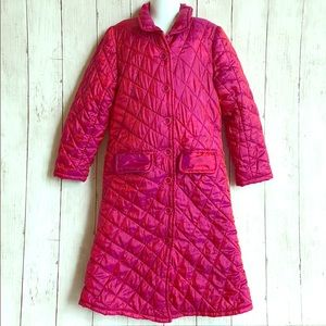 April Cornell Raspberry Pink Quilted Long Coat